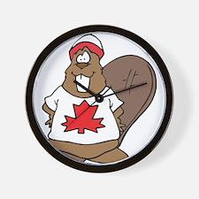 Canada Beaver Wall Clock