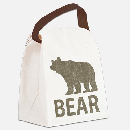 Vintage Bear Canvas Lunch Bag