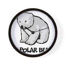 I Love Polar Bears Wall Clock
