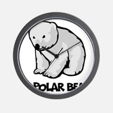 I Love Polar Bears Wall Clock