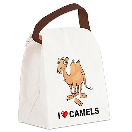 I Love Camels Canvas Lunch Bag