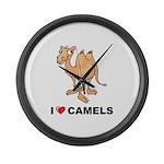 I Love Camels Large Wall Clock