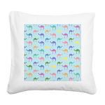 Colorful Camel Square Canvas Pillow