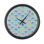 Colorful Camel Large Wall Clock