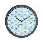 Colorful Camel Wall Clock