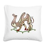 Stylized Camel Square Canvas Pillow