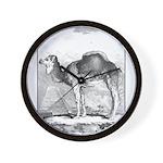 Camel Illustration Wall Clock