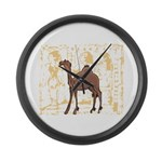 Egyptian Camel Large Wall Clock