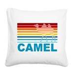 Colorful Camel Square Canvas Pillow