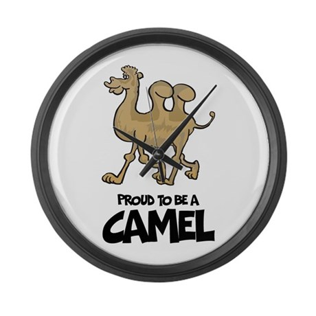 Proud To Be A Camel Large Wall Clock