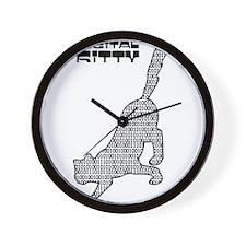 Digital Kitty Wall Clock
