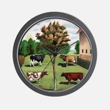 Vintage Cow Art Wall Clock