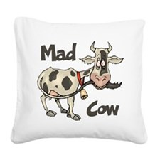 Mad Cow Square Canvas Pillow