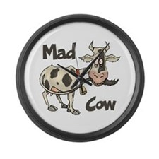 Mad Cow Large Wall Clock