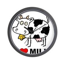I Love Milk Wall Clock