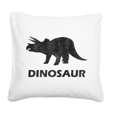 Vintage Dinosaur Square Canvas Pillow