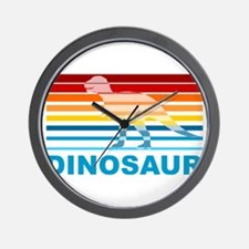 Colorful Dinosaur Wall Clock