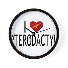 I Love Pterodactyl Wall Clock