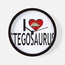 I Love Stegosaurus Wall Clock