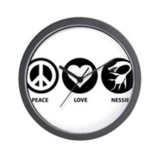 Peace Love Nessie Wall Clock