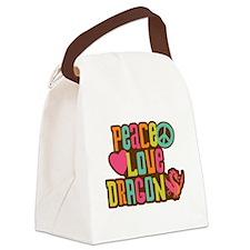 Peace Love Dragon Canvas Lunch Bag