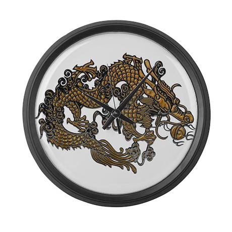 gold dragon large wall clock by esangha