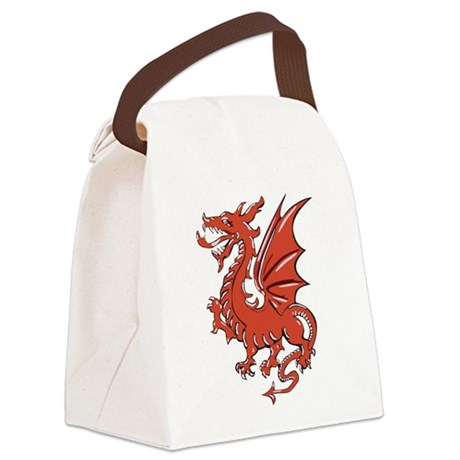 Red Dragon Canvas Lunch Bag