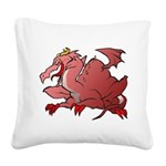 Red Dragon Square Canvas Pillow