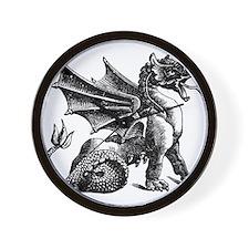 Hand Drawn Dragon Wall Clock