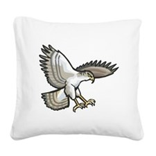 Flying Eagle Square Canvas Pillow