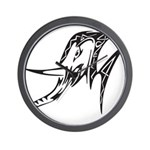 Tribal Elephant Wall Clock