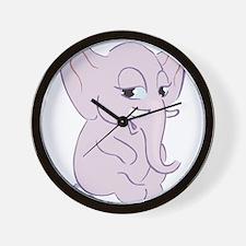 Cute Cartoon Elephant Wall Clock