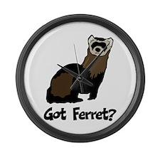 Got Ferret? Large Wall Clock