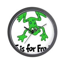 F is for Frog Wall Clock