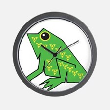 Ancient Frog Wall Clock