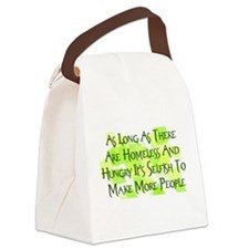 homeless_hungry01.png Canvas Lunch Bag