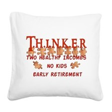 2-childfree_thinks01.png Square Canvas Pillow