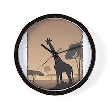 Vintage Giraffe Wall Clock