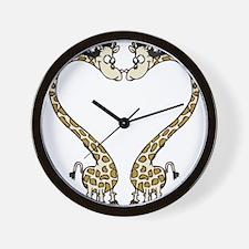 Love Giraffes Wall Clock