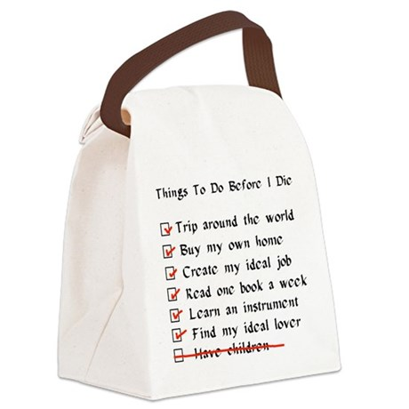 child_free_checklist01.png Canvas Lunch Bag