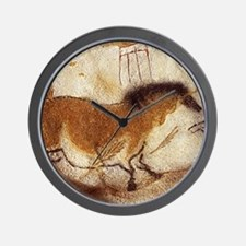 Lascaux Horse Painting Wall Clock