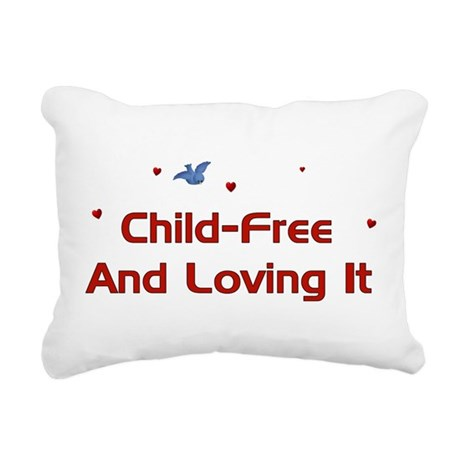 childfree01.png Rectangular Canvas Pillow