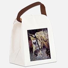 Cute Vintage horses Canvas Lunch Bag