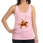 Knight On Horse Racerback Tank Top