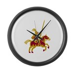 Knight On Horse Large Wall Clock
