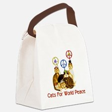 peacecats01.png Canvas Lunch Bag