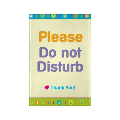 Do Not Disturb Rectangle Magnet (100 pack)