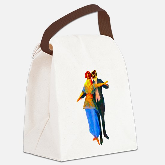 doggiedancers01c.png Canvas Lunch Bag