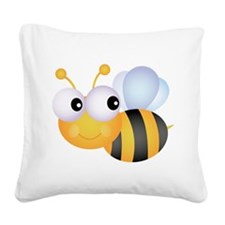 Cute Bee Square Canvas Pillow
