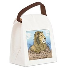 Lion Canvas Lunch Bag